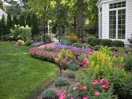 willing landscape front lawn landscaping ideas using river rocks