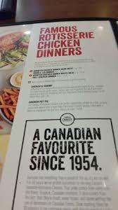 menu options and offerings swiss chalet 1663 kenaston blvd