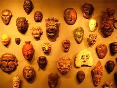 wall masks beautiful mask wall decoration vases pots and dish