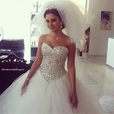 cheap bling bling 2014 ball gown wedding dresses plus size