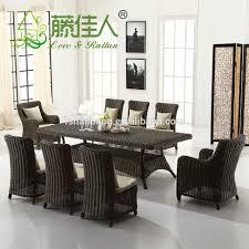 Wicker Dining Room Chairs Indoor Contemporary Luxury Modern Stackable Indoor Outdoor Hotel