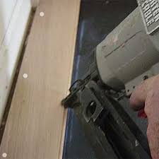 Hardwood Floor Gun Installing Solid Hardwood Floors Fastening By Nails Or Staples