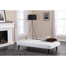 gray and white bedroom kinsley chevron futon gray and white walmart com