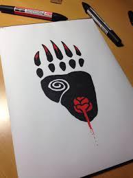 tattoo design bear paw by heartigan on deviantart