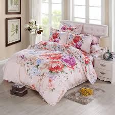 oriental vintage rose peony 3d watercolor flower bedding sets