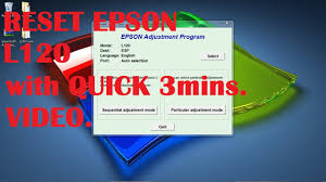 resetter epson l120 esp epson l120 reset quick 3 minutes video youtube