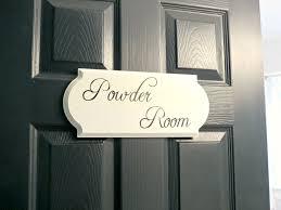 Powder Room Sign Second Bathroom Reveal