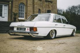 bagged mercedes wagon w114 slam sanctuary
