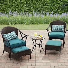 Patio Furniture From Walmart by Mainstays 5 Piece Skylar Glen Outdoor Leisure Set Blue Seats 2