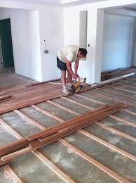 floating wood floor for surprising in basement and hollow