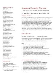 Sap Abap Resume For 2 Years Experience Cv Jh Coetzee Sap It Basis Technical Expert K5 And Management 16 11 U2026