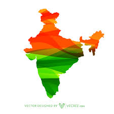 Hinduism Map Map In Colors Free Vector