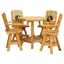 Patio Table And Umbrella Patio Table Set Cooper S Collection Outdoor Wood Furniture