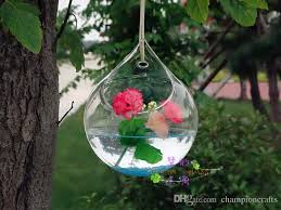 Hanging Glass Wall Vase Hanging Glass Air Plants Round Wall Vase For Home Decoration