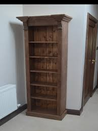 Dark Bookcase Irish Made Pine Furniture Any Design And Finish We Can Make It