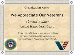 usmc letter of appreciation template printable certificates for military veterans certificates 10 best images of printable veteran certificate of appreciation