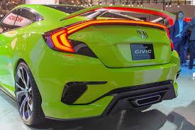 honda custom car honda stuns fans with radical civic concept in ny confirms type r