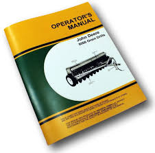 john deere 8000 grain drills operators owners manual 8100 8200