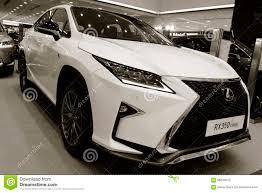 lexus international trade hk ltd exhibition presentation of a new car model lexus editorial stock