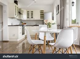 Pics Of Dining Rooms Area Dining Room Table View Bright Stock Photo 568190542