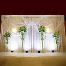 wedding backdrop online top luxury white wedding backdrop with beatiful swag wedding