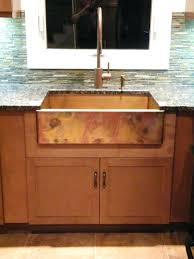sinks apron sink farmhouse front kitchen kohler copper sinks