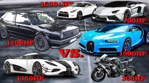 koenigsegg one 1 crash vw golf 1200hp vs bugatti chiron koenigsegg one kawasaki h2r
