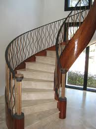 elegant wrought iron staircase designs wooden and wrought iron