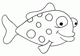 simple fish template kids coloring