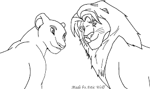 8 images of simba and nala love coloring page lion king
