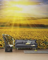 nature inspired eye deceiving wall murals to make your home look collect this idea sunflowers wall mural by pixers