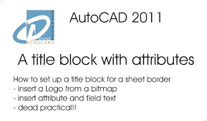 autocad 2011 setting up a title block using attributes youtube