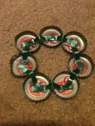 s cheesy cheez its chicken bottle cap wreath ornaments