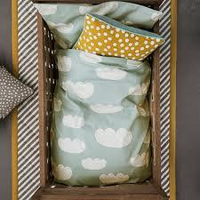 clouds bed linen set mint green 100x140 cm ferm living kids