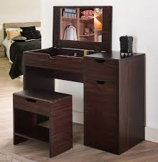 Bedroom Furniture Set With Vanity Amazon Com Iohomes Marc 2 Piece Modern Vanity And Storage Stool