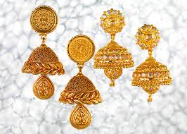 temple design gold earrings buy gold earrings in pune p n gadgil and sons