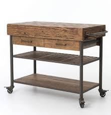 kitchen island or cart industrial reclaimed wood kitchen island cart on wheels zin home