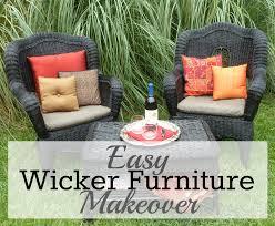 easy wicker furniture makeover from trash to treasure furniture redo mybigfathappylife com