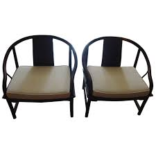 Asian Modern Furniture by Mid Century Modern Baker Asian Style Caned Chairs At 1stdibs