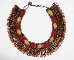 red gold necklace images African princess beaded tribal choker necklace red gold gunmetal JPG