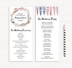Elegant Wedding Program Rose Gold Wedding Program Template Romantic Ceremony Card Elegant
