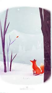 sleeping red fox wallpapers winter night art print oh stars and dreams and gentle night