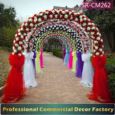arch decoration custom foldable wedding arch gate decoration with artificial