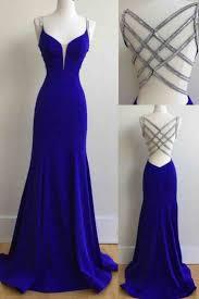 back royal blue chiffon prom dress ball gown prom dresses 2017