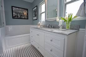 Gray And White Bathroom - white tiled bathrooms grezu home interior decoration bathroom