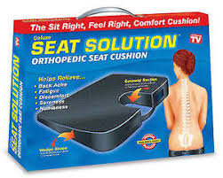 orthopaedic seat cushion wedge tailbone pillow coccyx spine pain