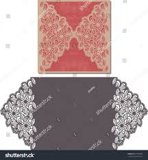 paper cut out card laser cut stock vector 410814085
