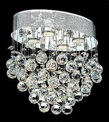 Crystal Ceiling Mount Light Fixture by Crystal Flush Mount El2022f16c