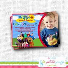 the wiggles birthday party invitation any age kids childs