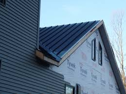 Insulation Blanket Under Metal Roof by Under Roof Siding U0026 Step Flashing Under Construction C